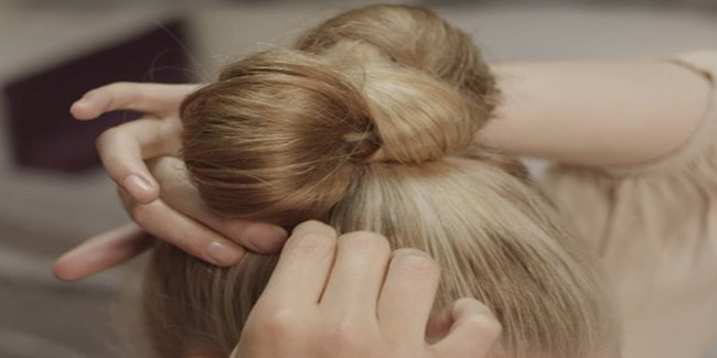 Steps to Make a Bow Bun with Short Hair