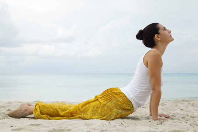 Bhujangasana (The cobra pose)