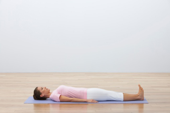 Savasana (The corpse pose)