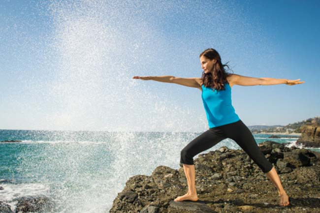 Veerbhadrasana (The warrior pose)