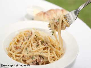 Spaghetti Alfredo Food Recipe