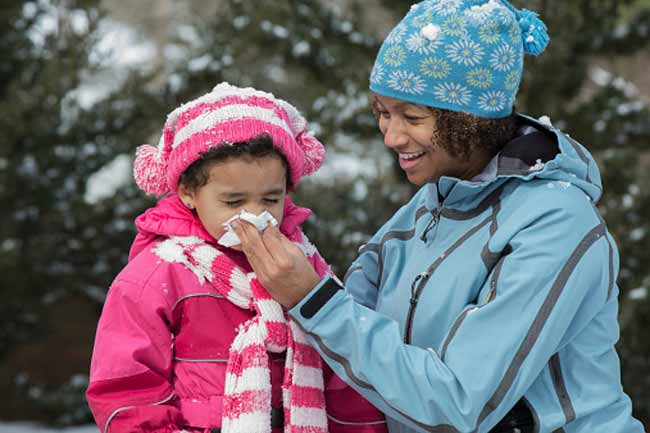 Myth:Allergies don't Exist during Winters.