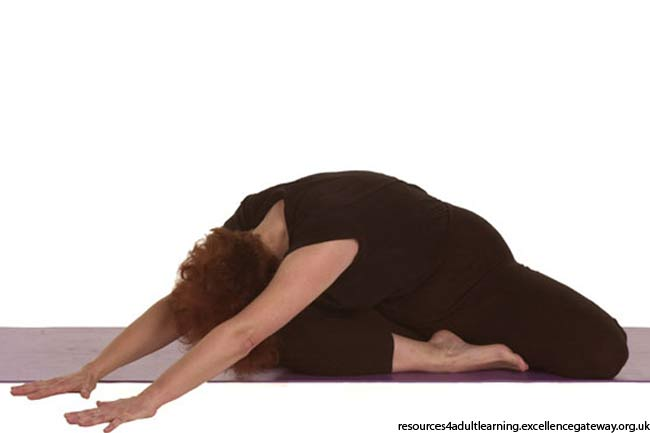 Saithalyasana strengthens the pelvis