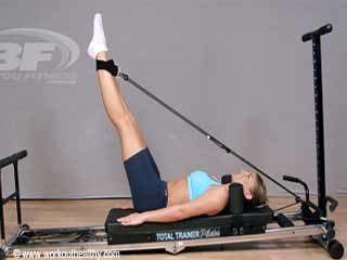 Straight <strong>Leg</strong> Reverse Crunch Pilates Reformer Exercise