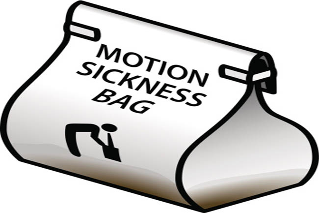 Stay away from those who experience motion sickness