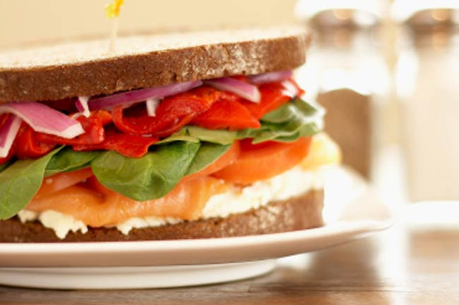 Whole Wheat Tuna Fish Sandwich
