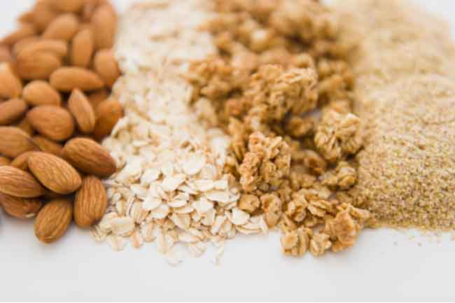 Oatmeal, Soy Milk and Almonds