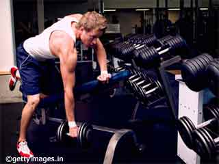 Back Toning exercises- Dumbbell Rowing