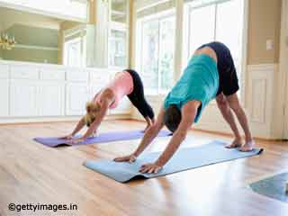 Downward Facing Dog Pose Yoga for <strong>Stress</strong> Relief