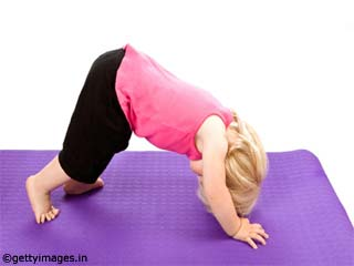 Downward Facing Dog Yoga Pose for <strong>Kids</strong>