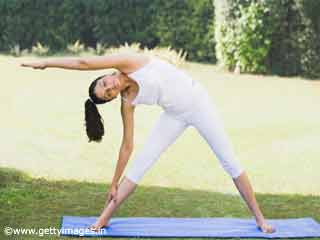 Extended Triangle Pose or Trikonasana Yoga
