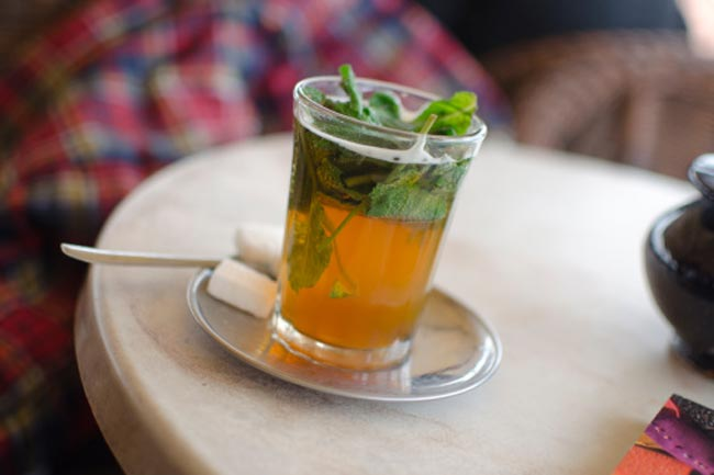 Peppermint Tea for Dull Skin