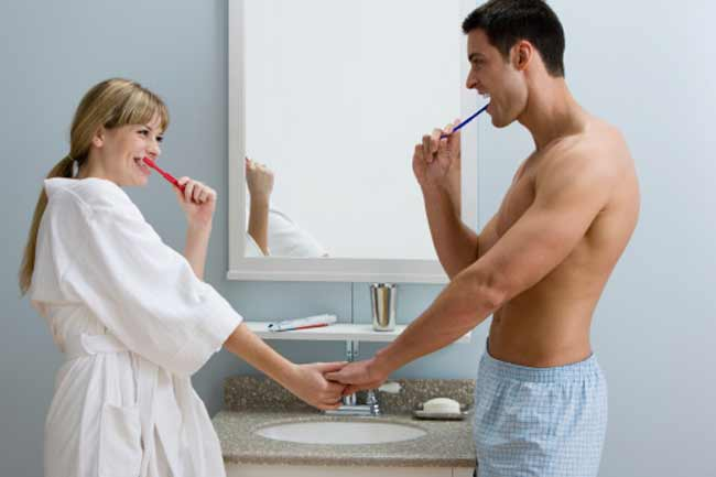 Myth: Brushing your teeth before oral sex will prevent STIs from spreading.