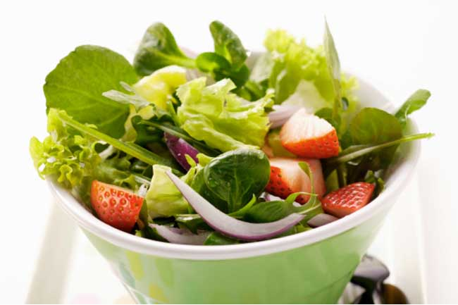 Lettuce and Strawberry Salad