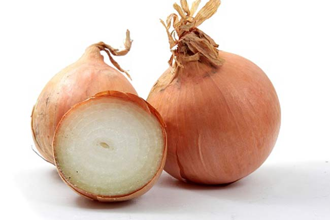 Onion for curing tonsillitis