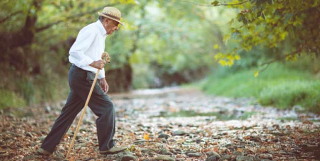 Slow walking associated with dementia
