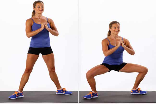Sumo Squat with Drag for Inner Thighs