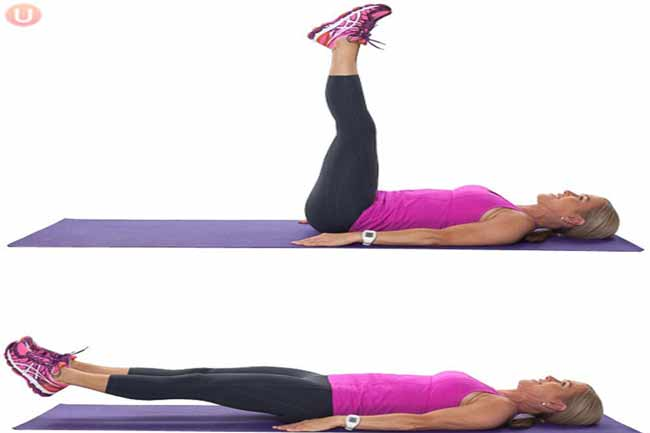 Leg Drops for Lower Belly