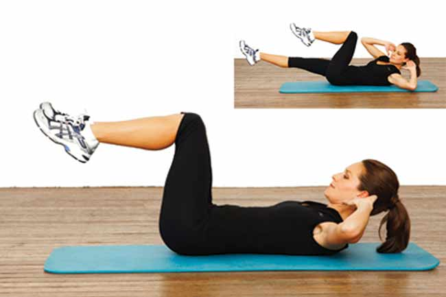 Bicycle Crunches for Waist