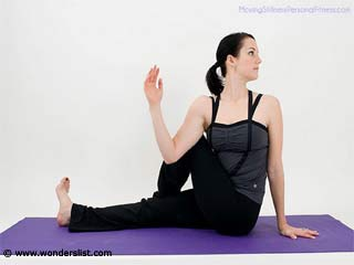 Pilates Leg Stretch with Spinal Twist Exercises