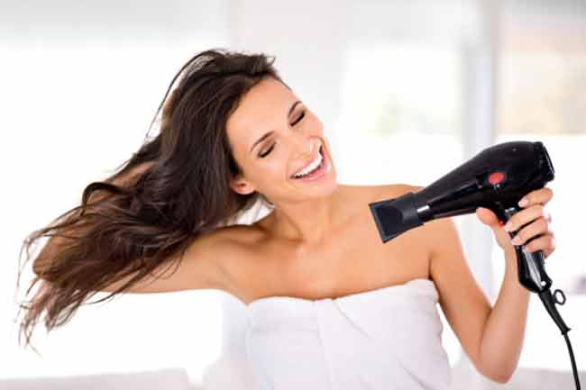 Dry your hair properly and moisturise your skin