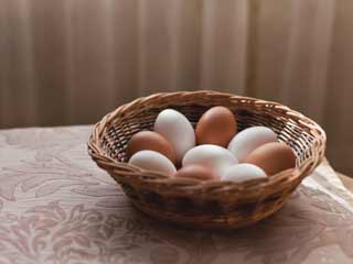 The difference between brown eggs and <strong>white</strong> eggs