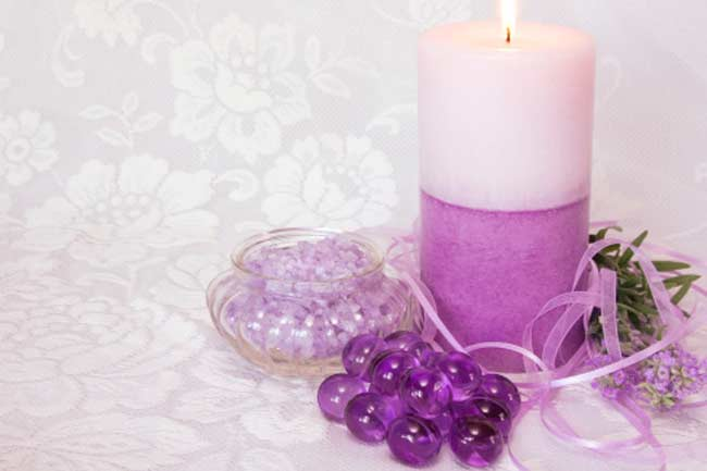 Your lavender candle