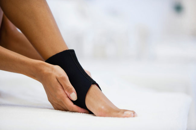 Heat on a sprain or fracture