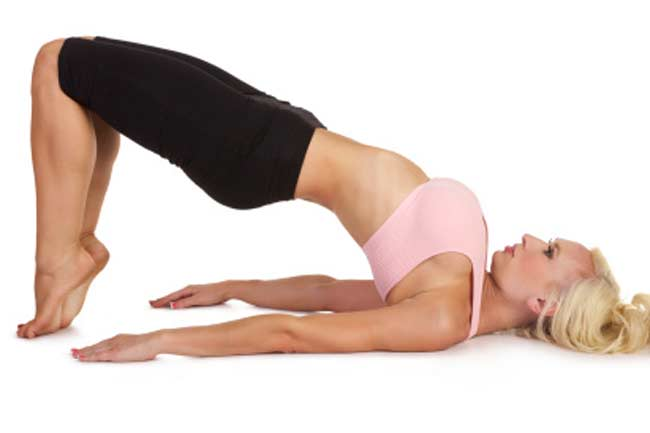 Bridge pose for fullness