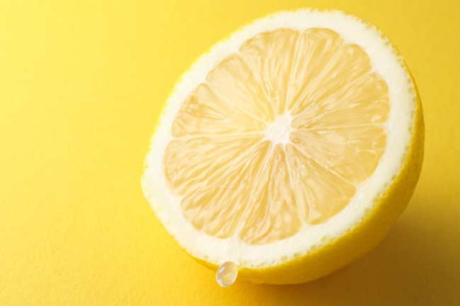 Lemon juice as a natural skin toner