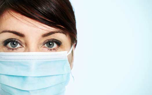 Does wearing a mask prevent the flu?