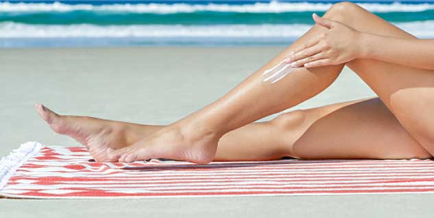 preventing tanning with sunblock