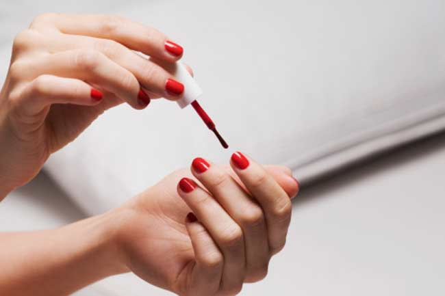 Be cautious during a manicure or pedicure