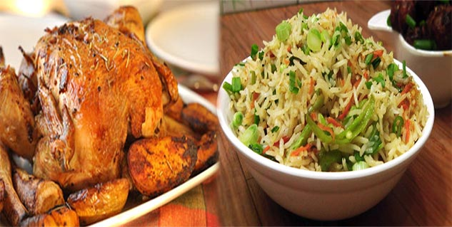 grilled chicken Himachal style with veg fried rice