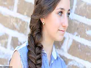 How to make a fishtail braid hairstyle on your own