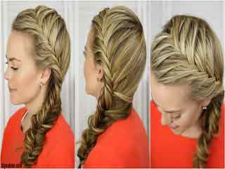 How to make a side French braid hairstyle