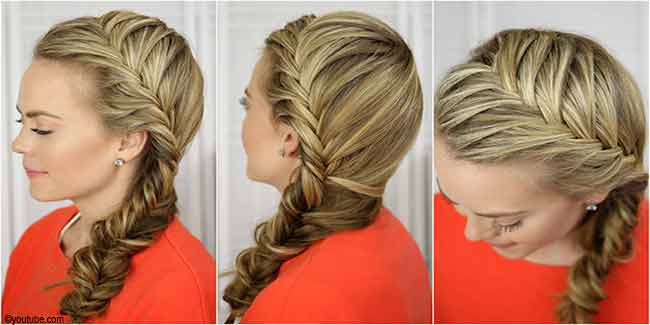 How To Do French Braid Hairstyle Step By Step Video Fashion Beauty