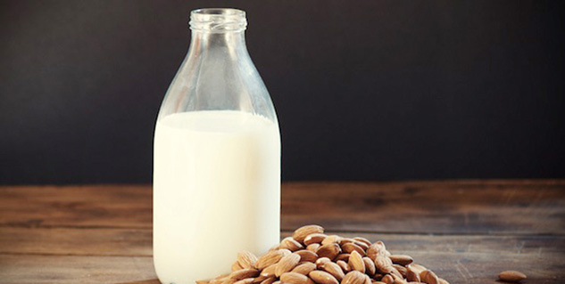 almond milk in hindi