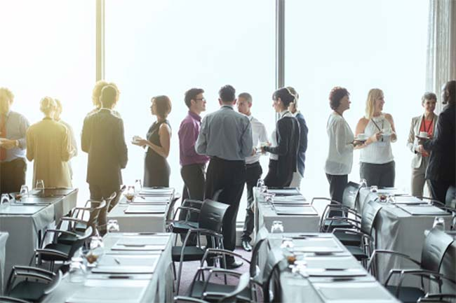 High carbon dioxide levels in meeting rooms