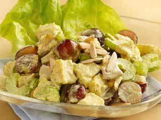 Learn how to make delicious curry <strong>chicken</strong> salad with grapes at home