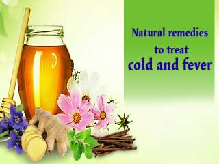 Natural <strong>remedies</strong> to treat cold and fever