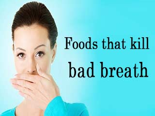<strong>Foods</strong> that kill bad breath