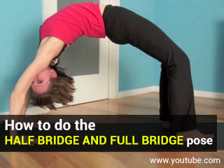 How to do the half bridge and full bridge pose