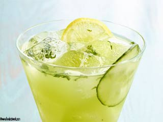 Yellow splash - interesting summer refreshment drink