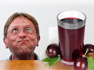 How does prune juice help in constipation