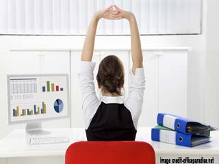 How to exercise while sitting at <strong>your</strong> computer