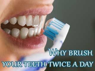 Why brush your teeth twice a <strong>day</strong>