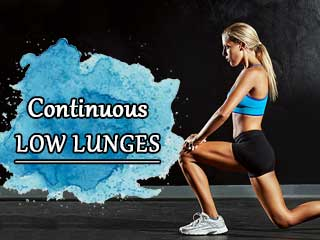 Continuous low lunges
