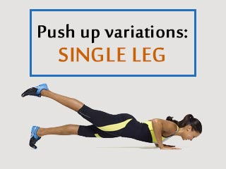 Push up variations never heard of <strong>single</strong> leg