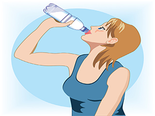 Listen up folks, drink water throughout the day, except for right after your <strong>meal</strong>